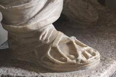 sculpted foot