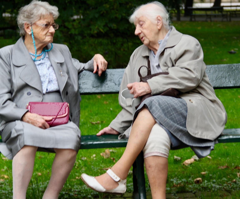 Ladies on Bench - 1